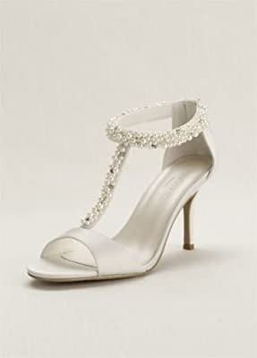 Pearl and Crystal T-Strap Sandal Style LOREN