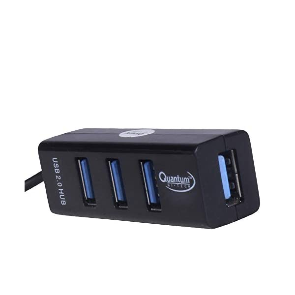 Quantum QHM6642 4 Port Hi-Speed USB Hub (Black)