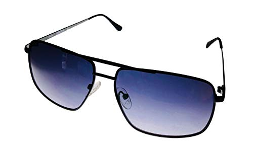 - Kenneth Cole Reaction Satin Black Mens Metal Rectangle Sunglass KC1369 5B
