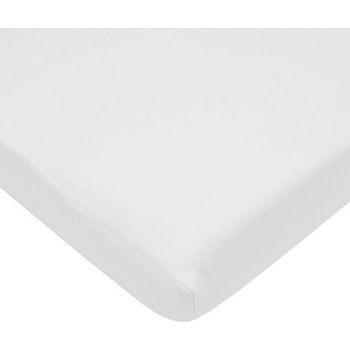 Baby Crib Fitted Sheet Fits Standard Size Crib Mattress - White, 1 Pack, 100% Cotton Sateen, for Maximum Softness and Easy Care Made In USA By TOT America by TOT AMERICA