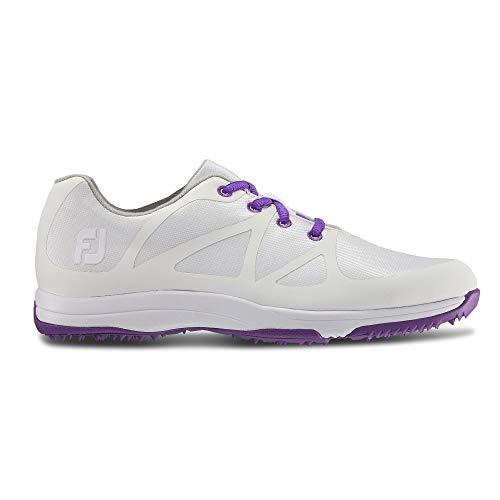 FootJoy Women's Leisure-Previous Season Style Golf Shoes White 7 M Purple, US