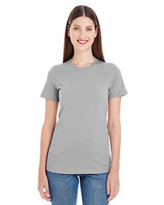 Organic Fine Jersey T-shirt - American Apparel Women's Organic Fine Jersey Classic Woman T-Shirt, Nickel, Medium