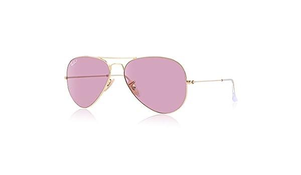 Ray-Ban Gafas de sol MOD. 3025 Rosa (Marco: Dorado, Lente: Cristal Polar Pink), 58