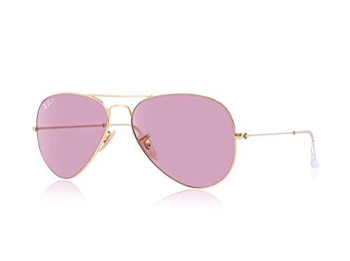 Ray de Pink Polar Rosa 3025 Gafas Cristal MOD Dorado Marco Ban 58 sol Lente AUwq1rAx