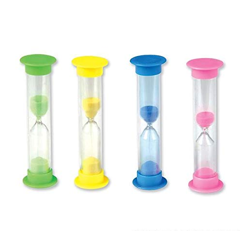 Rhode Island Novelty 2 Minute Plastic Colored Sand Timer (12 Pack)