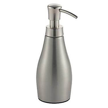 InterDesign Avery Soap Dispenser Pump for Kitchen, Bathroom Vanities, Brushed Stainless steel