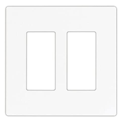 - 31DAi9wUjLL - EATON 9522WS Aspire 9522 Decorative Mid Size Screw less Wall Plate, 2 Gang 4-1/2 In L X 4.56 In W 0.08 In T, Satin, White