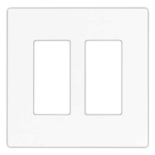 (EATON 9522WS Aspire 9522 Decorative Mid Size Screw less Wall Plate, 2 Gang 4-1/2 In L X 4.56 In W 0.08 In T, Satin White)