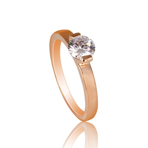 Fashion Plaza Ring 1/2CT Cubic Zircon Cut Ring (Available in Sizes 5 6 7 8 9) R356 (Engament Ring Diamond)