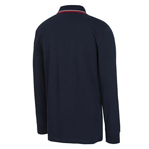 Diadora Sport 102161300 Pq Ls Polo para hombre Blu Corsaro