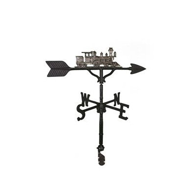 Montague Metal Products 32-Inch Weathervane with Swedish Iron Train Ornament (Train Lawn Ornament)