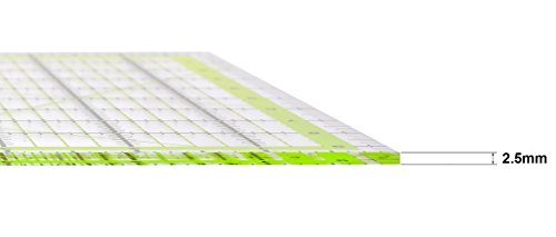 Skyhawk Acrylic Quilting Ruler 9.5x9.5 inch Square Quilters Ruler Clear and Accurate Markings