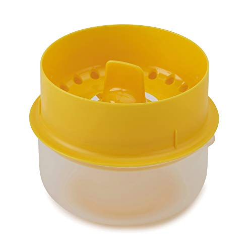 Joseph Joseph 20115 YolkCatcher Egg Yolk Separator with Collecting Bowl Fits Up To 6 Eggs (Best Way To Separate Egg White)