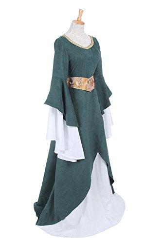 Damen FBA Party Kostüm Langarm GC218A Kleid NI Mittelalterliche Königin Nuoqi Maxi Kleid OdgU6Ux