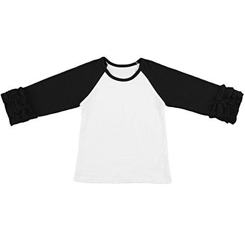 Little Girls 3/4 Sleeve Icing Ruffle T-Shirt Top