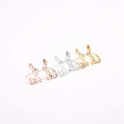 Fashion Couture Origami Bani Rabbit Earringsfor Women (Rose Gold Color)