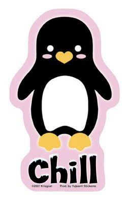 Krisgoat - Chill Penguin - Sticker / Decal