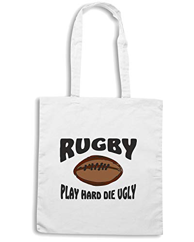 Speed Shirt Borsa Shopper Bianca TRUG0013 FUNNY RUGBY ASH GREY