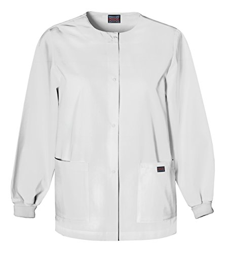 Jacket Style Traditional - Cherokee Women's Warm Up Scrubs Jacket, White, X-Large