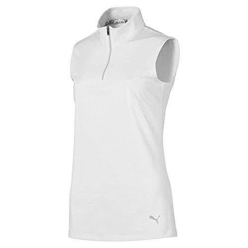 Puma Golf Women's 2019 Sleeveless Mock, Bright White, Medium