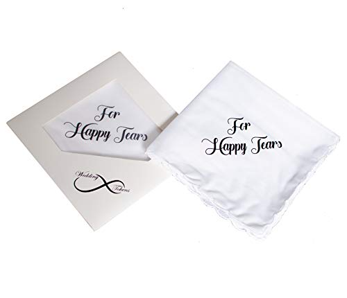 for Your Happy Tears Wedding Handkerchief with Included Gift Box- Wedding Keepsake ()