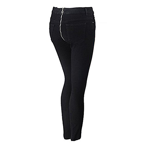 Noir avec haute dos Stretch dcontracts Straight fermeture Sexy Pantalons Jeans Lady Denim taille au Femmes Denim glissire Pantalon Fashion Denim Pantalon Jeans New Iq8Bvf