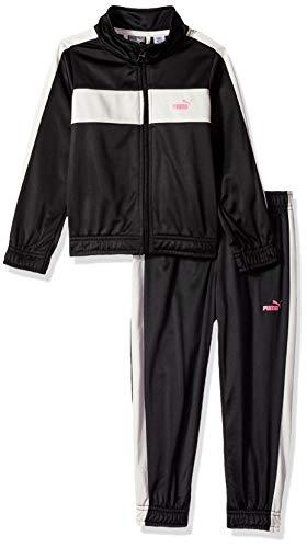 - PUMA Little Girls' 2 Piece Tricot Set, Black, 6X