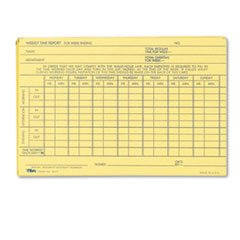 MOT3 - Employee Time Report Card, Weekly, 6 x 4, 100/Pack by MOT3