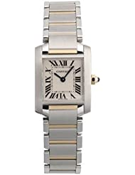 Cartier Womens W51007Q4 Tank Francaise Stainless Steel and 18K Gold Watch