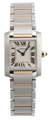 Cartier-Womens-W51007Q4-Tank-Francaise-Stainless-Steel-and-18K-Gold-Watch