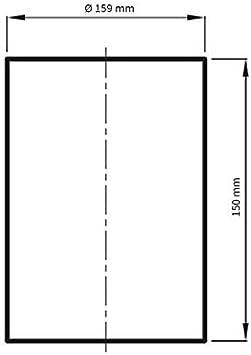 /Ø 100 mm Verbindungsrohr 15 cm lang zur Verbindung zweier Rohre