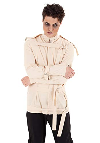 Adult Straight Jacket Novelty Fancy Dress Costume Medium White]()