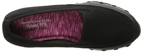 nbsp;pedestrian Leather Por Mujer mesh Para Estar Casa De Skechers Bikers Black Zapatillas 5wvx4X