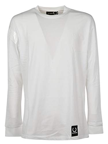 Blanc Perry Fred shirt Fpsm410527100 Homme Coton T t4TdqBw