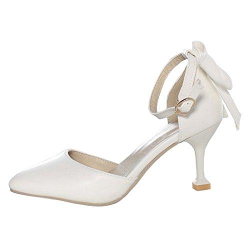 D'Orsay Women's White Pumps Sandals TAOFFEN Shoes FWZSwaq5