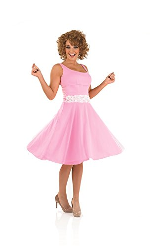 1980s Dirty Dancing Baby Female Fancy Dress Costume & Wig - L (US 14-16) (Fancy Dress 80s Style)
