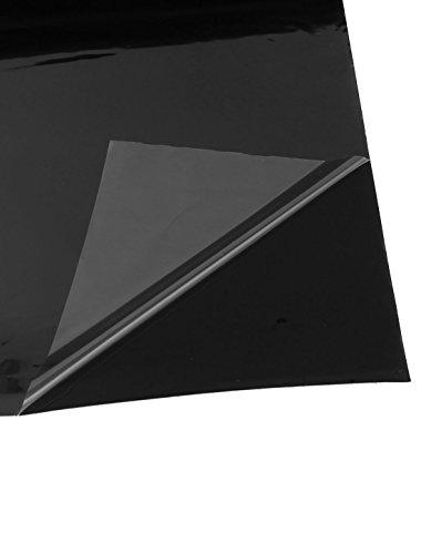 Black Vinyl Car Door Bumper Edge Cover Protective Film 300mm x 95mm