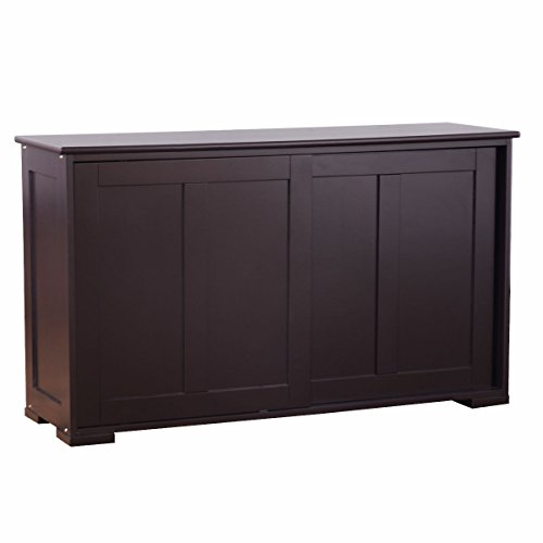 Sideboard Buffet Kitchen Storage Cabinet Cupboard Wood Sliding Door Pantry