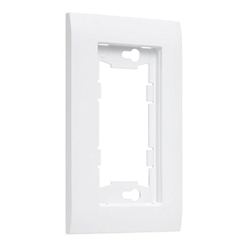 TayMac A1000W Allure Nonmetallic Wallplate Frame with 1-Gang, White