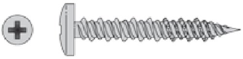 (1000 Count) Simpson T10J100PXM #10 X 1'' 316SS Phillips Drive .365 Pan Head Marine Screw by Simpson Strong-Tie