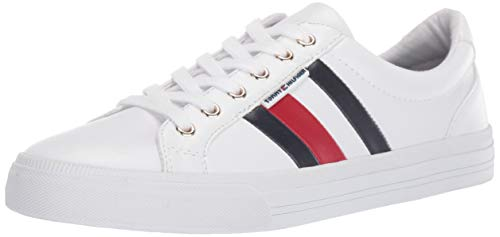 (Tommy Hilfiger Women's Lightz Sneaker, White, 7.5 Medium)