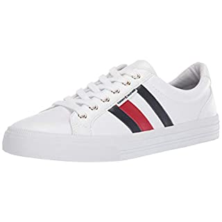 Tommy Hilfiger Women's Lightz Sneaker, White Multi, 8