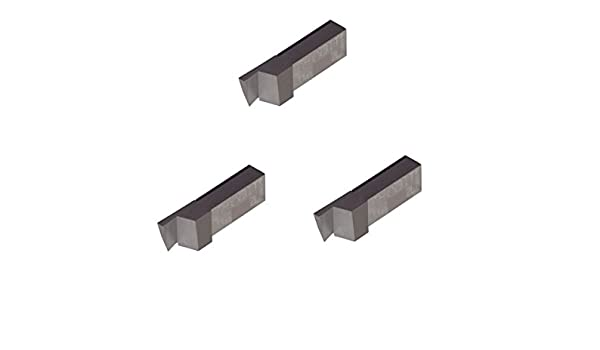 Aluminium and Plastic Without Interrupted Cuts Sharp Corner Grooving Insert for Non-Ferrous Alloys Uncoated Carbide THINBIT 3 Pack LGT031D5L 0.031 Width 0.093 Depth