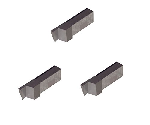 Nickel Alloys and Stainless Steel with Interrupted Cuts Titanium Grooving Insert for Steel TiAlN Coated Carbide Sharp Corner THINBIT 3 Pack LGT065D2LE 0.065 Width 0.162 Depth