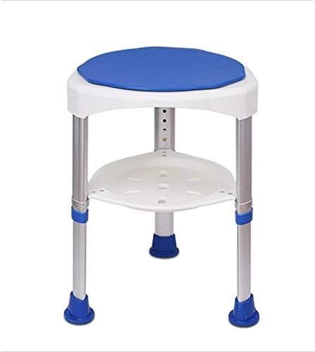 Haushalt Rutschfester Duschhocker Duschhocker -Shower Drehung um 360 Grad Rundduschstuhl for Erwachsene for Behinderte Hocker und Ältere Kreative multifunktionale Duschhocker (Color : Dark Blue)