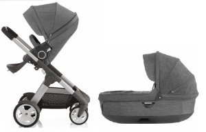 Amazon.com : Stokke Crusi Stroller & Bassinet Combo (Black Melange ...