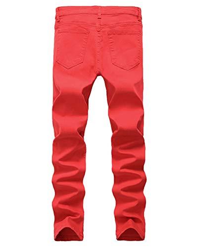 los Ocio D Estilo Rasgados Recta,Jeans Hombre Vaqueros Pantalones, Jeans Hombre Pernera de DaiHan para Ajustados Hombres,Destruido SBwqP6T