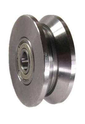 Mapp Caster HAC300D50, 2'' x 3/4'' Steel V-Groove Barn Door Wheel - 260 lbs Capacity by Mapp Caster
