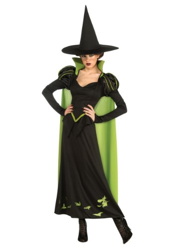 Rubie's Costume Wizard Of Oz 75th Anniversary Edition Adult Wicked Witch Of The West, Black/Green, One Size Costume - Wicked Witch Of The West Flying