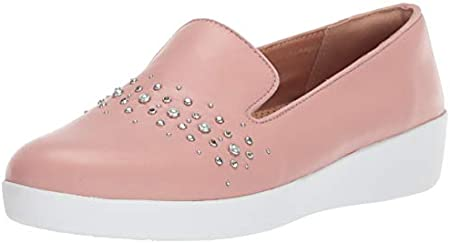 Fitflop Audrey Pearl Stud Smoking Slippers, Zapatillas Bajas Mujer